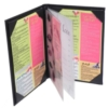 Bonded Leather 2 Panel Pocket Menu Cover w/Sewn in Protector (5 1/2