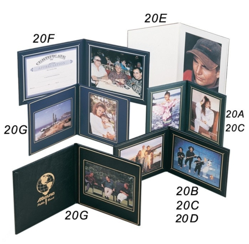 Superior Double Photo/Certificate Frame - Book Style (9 3/4