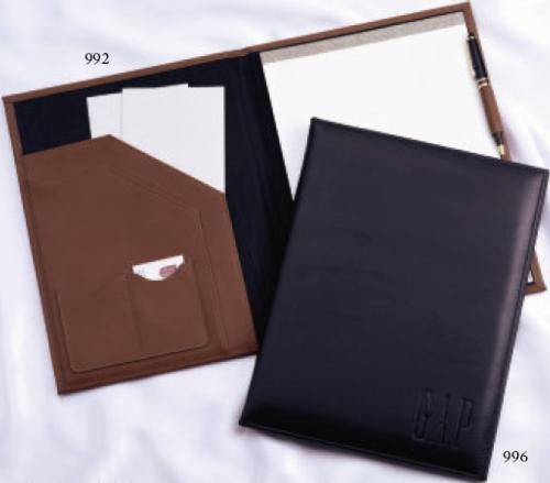 Top Grain Elite Leather Padholder Sr. w/ Double Pockets