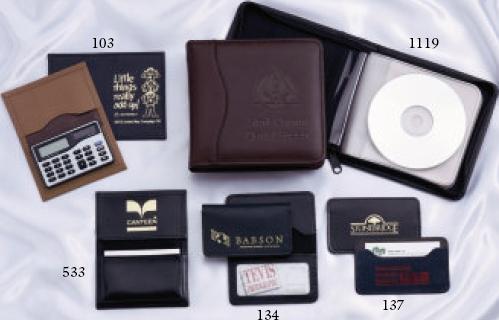 Bonded Leather Zippered CD Holder