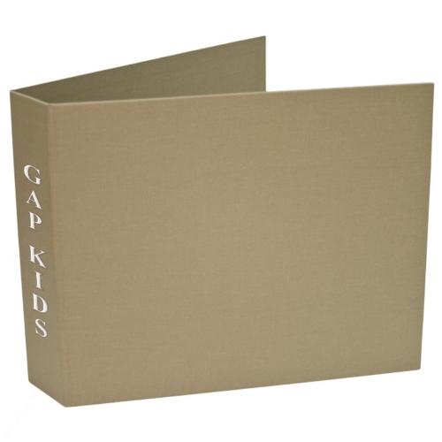 Book Cloth Landscape 6 Ring Binder (1/2