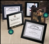 Padded Certificate/Photo Frame (9