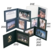 Superior Double Photo/Certificate Frame - Book Style (5