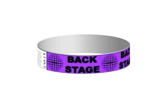 Stock backstage Pattern Tyvek Wristband (3/4