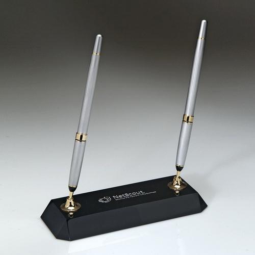 Black Crystal Pen Set w/ 2 pens