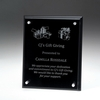Rosewood Plaque w/Glass