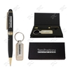 Danish Glisten Metal Pen and Leather Key Tag Gift Set