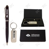 Achilles Ballpoint Metal Pen and Leather Key Tag Gift Set