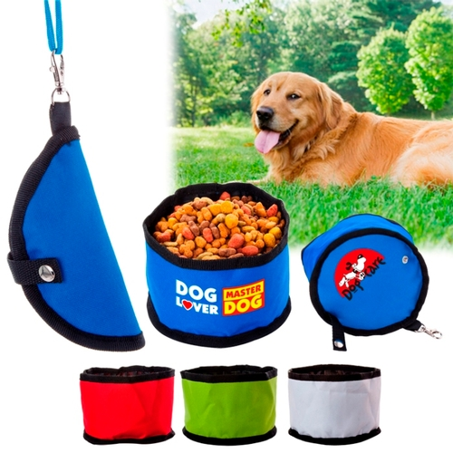 600D Poly Folding Pet Travel Bowl