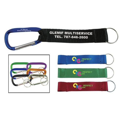 2-3/4 inch Carabiner W/Printed Strap
