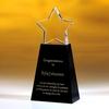 Award-Clear Star W/ Black Base 8