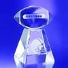 Award-Clear Football w/ Tall Base 5-1/2