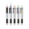 2 in 1 twist action highlighter and ballpoint pen.