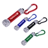 5 LED Metal flashlight with carabiner