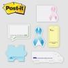 Post-it® Custom Printed Notes Shapes - Jumbo