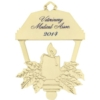 Golden Holiday Ornaments