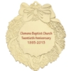 Golden Holiday Ornaments - Wreath