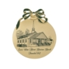 Golden Holiday Ornaments - Holiday Ball - Blank