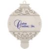 Silver Bulb Shape Ornament