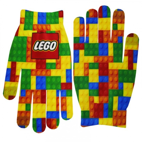 Full Color Image Text Gloves