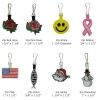 Stock Embroidered Zipper Pulls/Tags