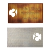 1 Sided 4CP Dye Sub Fabric Business Card
