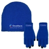 Fuzzy Text Gloves and Cap Combo