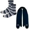 Fleece Mitten Scarf and Fashion Fuzzy Feet Combo