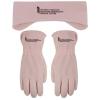 Pink Fleece Gloves and Earband Combo