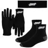 Performance Runners Text Gloves-Headband-Socks Combo