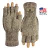 USA Made Fingerless Rag Wool Gloves