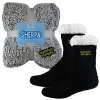 Frosted Sherpa Blanket and Sherpa Lined Fuzzy Feet Combo