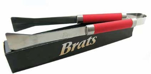 Barbeque tongs with laser etched logo and gift box