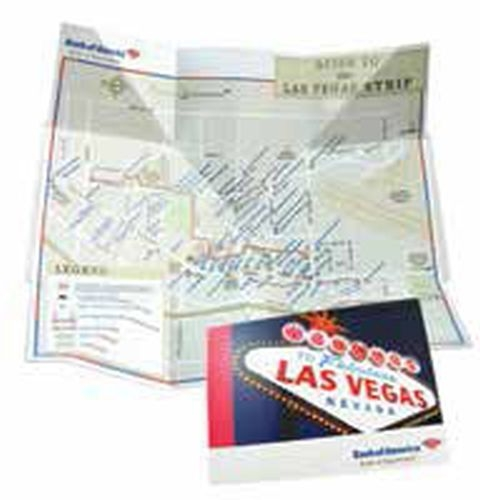 Fold-out travel map with PMS matched colors