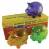 Set of 3 piggy banks in PMS matched colors with custom box