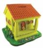 Custom polyresin piggy bank in shape of house