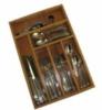 6 compartment bamboo silverware box