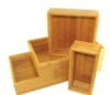Set of 4 bamboo boxes in assorted sizes with imprint capability