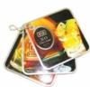 Custom set of 4-color process key ring drink coasters