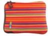 Neoprene laptop case with 3-D PVC logo