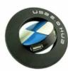 Round rotating 4 port USB hub with logo