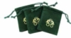 Custom PMS matched drawstring pouch with gold foil logo