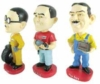 Set of 3 custom polyresin figurines including gift box