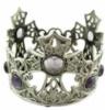 Custom shaped jeweled metal candle holder