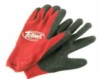 PMS matched rubber grip work gloves with logo