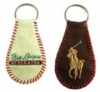 Leather key rings with embroidery