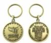 Custom jeweled coin key ring