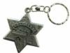 Custom star shaped key ring with embossed logo