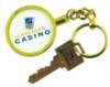 Custom design key ring with 4-color process center ring capability