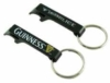 Black key ring bottle opener with PMS matched logo